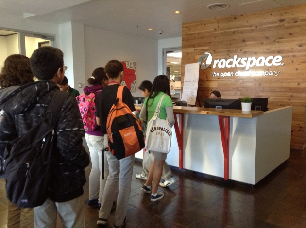 Little Brothers and Sisters arrive at Rackspace for the first time last year -- October 2013.